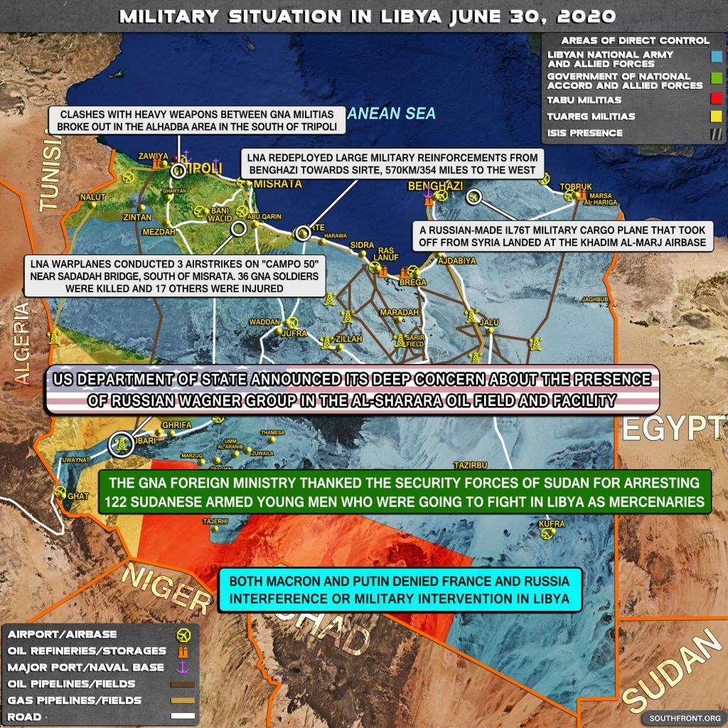 Military Situation In Libya On June 30, 2020 (Map Update)