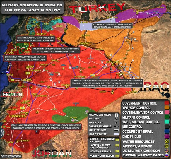 Military Situation In Syria On August 4, 2020 (Map Update)