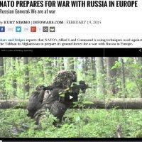 """Infowars: """"NAVO bereidt zich voor op oorlog met Rusland"""""""