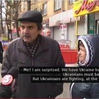 Interview met de lokale bevolking in Mariupol