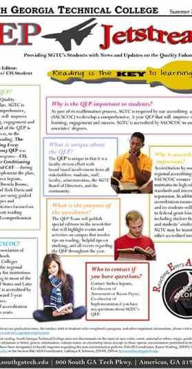 QEP Jetstream, Issue 1, Summer 2017