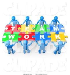 clip art of blue 3d people working together to hold colorful pieces of psa014 clipart [ 1024 x 1044 Pixel ]