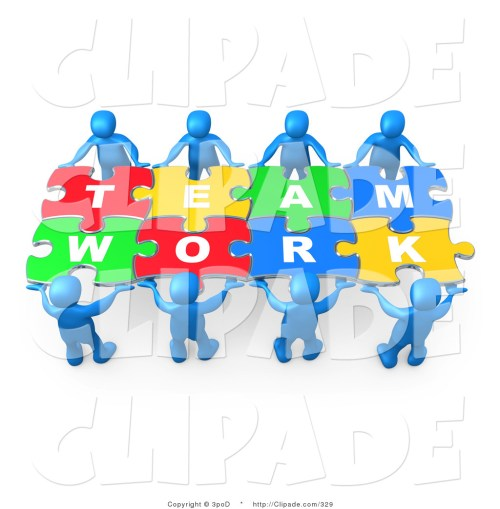 small resolution of clip art of blue 3d people working together to hold colorful pieces of psa014 clipart