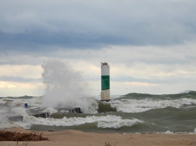 North Pier - High Waves