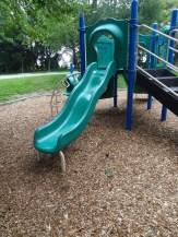 Toddler playground, bumpy slide