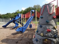 rock wall and slides