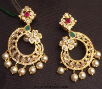 Pics For > Design Of Gold Earrings With Latest Design