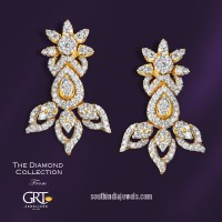 Stylish Diamond Earrings From GRT Jewellers ~ South India ...