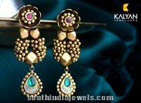 Kalyan Jewellers Antique Designer Earrings ~ South India ...