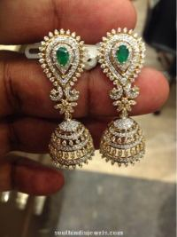 Latest Diamond Jhumka Model ~ South India Jewels
