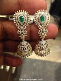 Latest Diamond Jhumka Model ~ South India Jewels