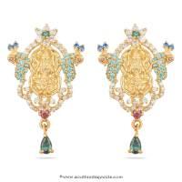 22 Carat Gold Lakshmi Earrings ~ South India Jewels