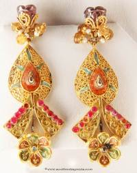 Gold Designer Earrings from Senthil Murugan Jewellers ...