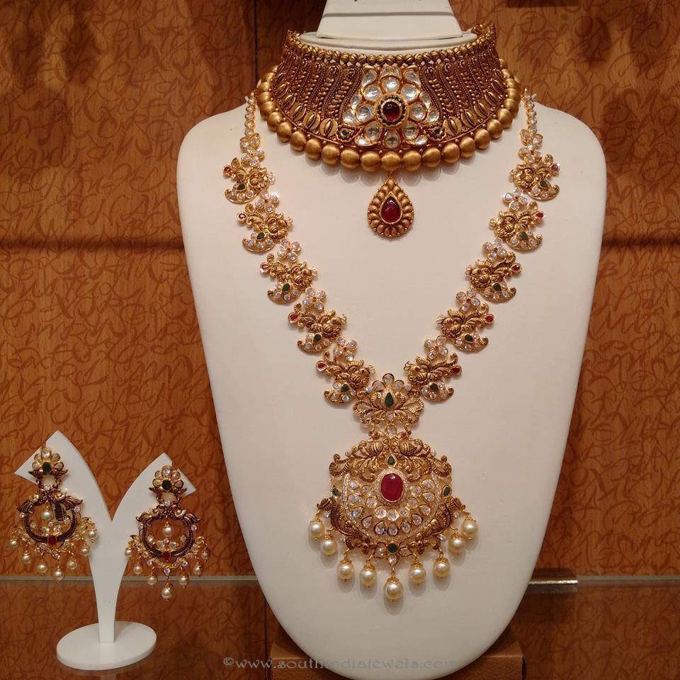South Indian wedding jewellery Designs ~ South India Jewels