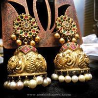 Big Gold Bridal Jhumka ~ South India Jewels