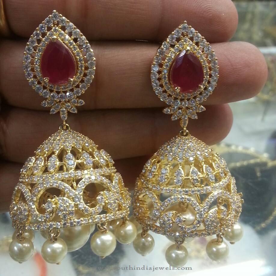 1 Gram Gold Earrings Latest 1 Gram Gold Earrings