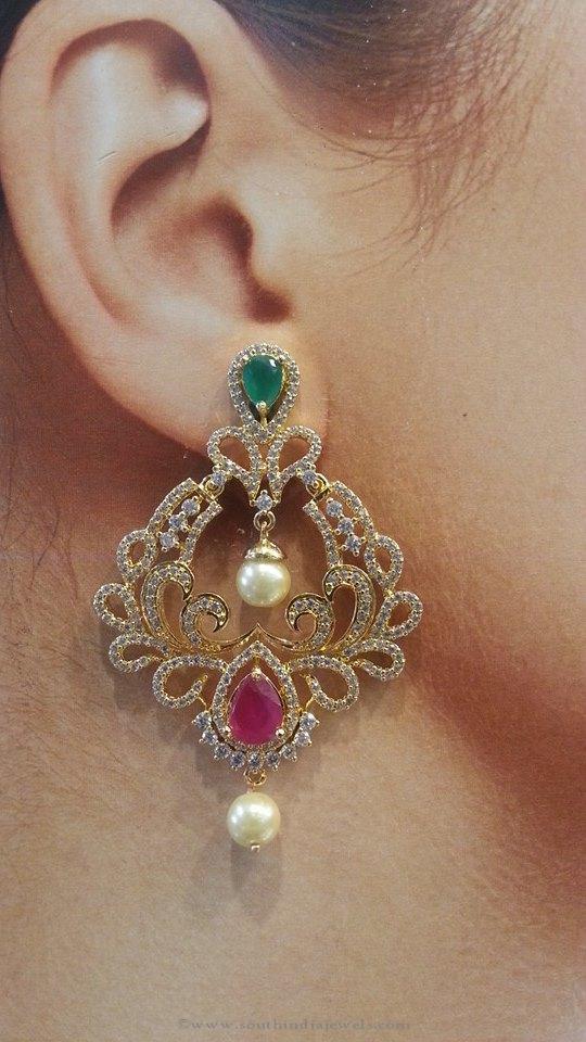 Chand Bali Earrings 1 Gram Gold