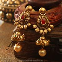 Indian Jewellery Earrings Designs Gold | www.imgkid.com ...