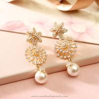 Diamond Fancy Earrings with Pearls from Manubhai ~ South ...