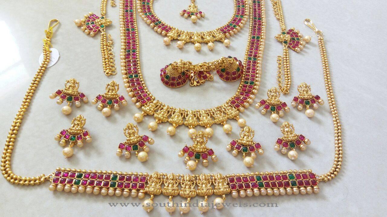 Imitation Kemp Bridal Jewellery Sets ~ South India Jewels