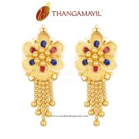 Earrings Design In Gold India Designer Gold Earrings ...