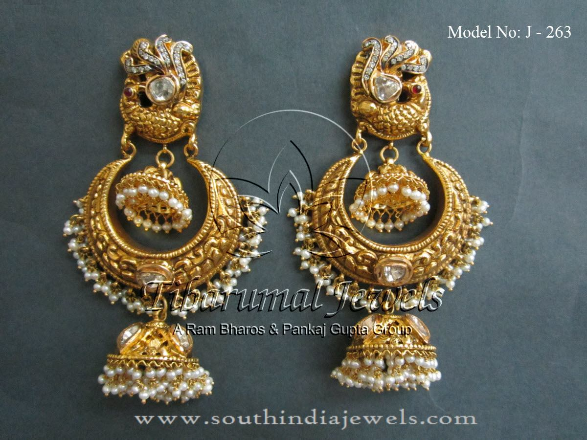 Pearl Earrings Designs ~ South India Jewels