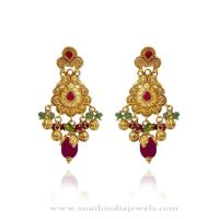 Gold Earrings Design ~ South India Jewels