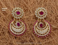 Chandbali Earrings 1 Gram Gold - Jewelry FlatHeadlake3on3