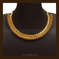 Simple Gold Necklace Designs ~ South India Jewels