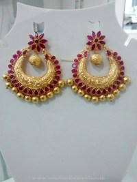 Antique Gold Earrings Designs ~ South India Jewels