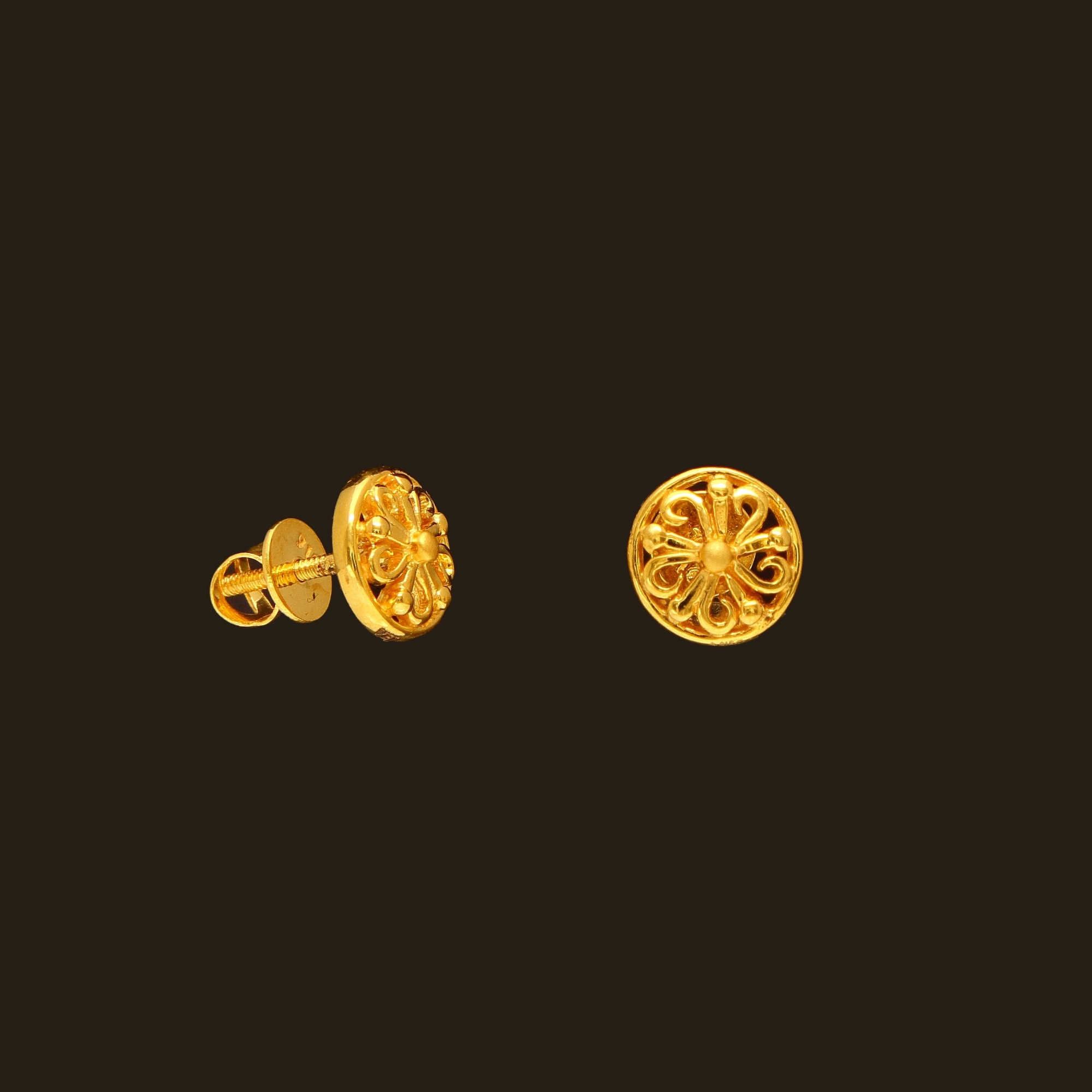 Small Gold Earrings Designs ~ South India Jewels