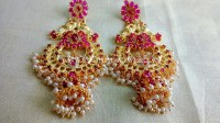 1 Gram Gold Jhumka Earrings Online Gorgeous Geru Polish ...