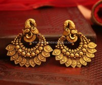 Bold Antique Earrings From Manubhai Jewellers ~ South ...