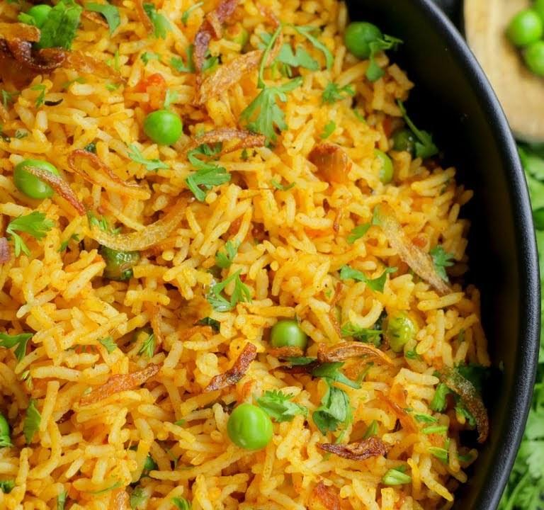 Green Peas Masala Rice Recipe