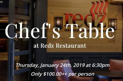 Chef's Table at Redz Restaurant