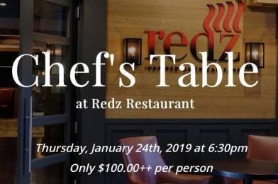 Chef's Table at Redz Restaurant