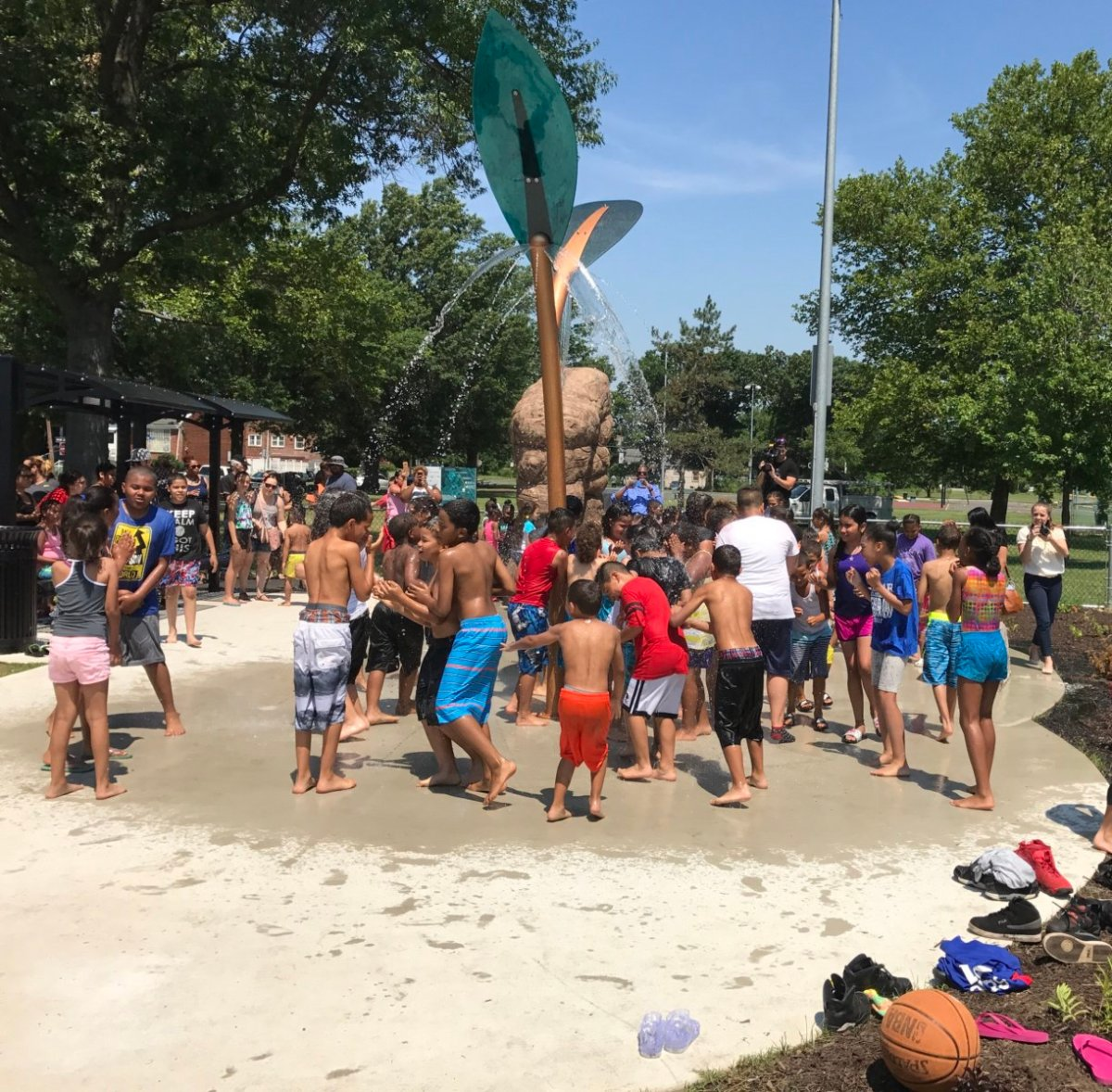 Photos: Camden's Von Nieda Park Sprayground Now Open