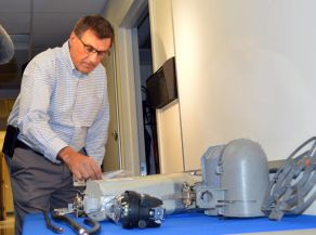 Atlantic City Electric's Jules Zaccone shows electric devices