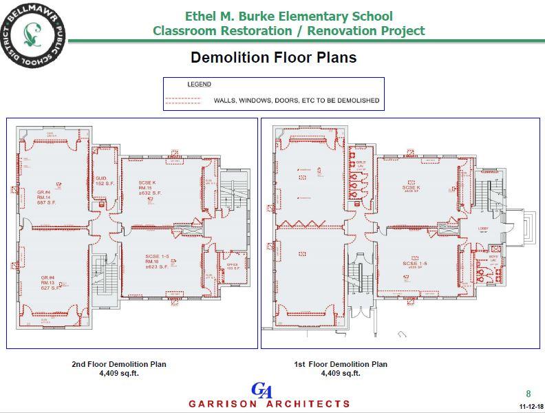 Architect Presents E M Burke Classroom Renovation Restoration