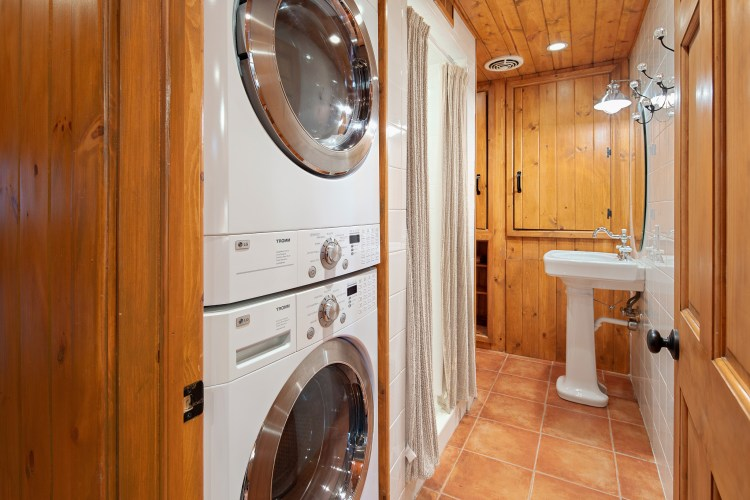 Hall bathroom is also a laundry room