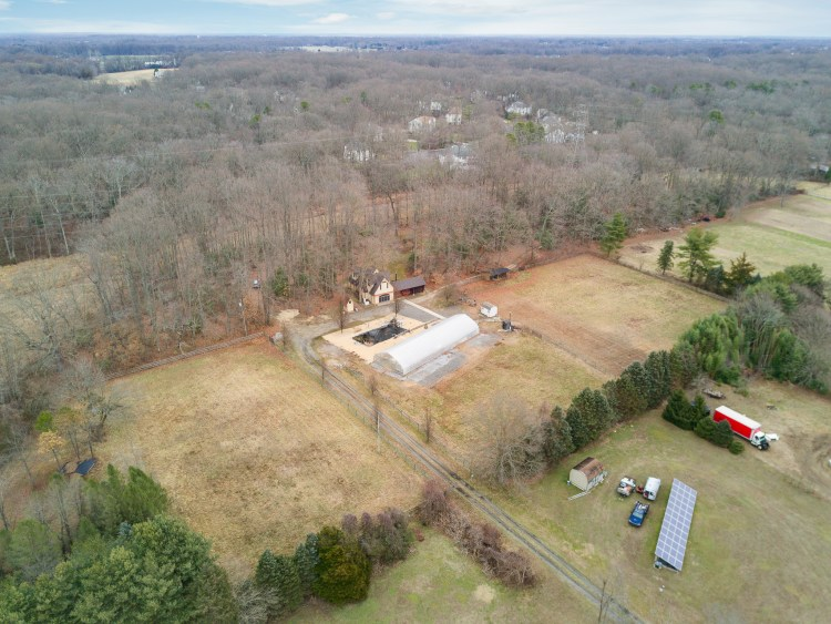 Aerial View of 261 Mullica Hill Road