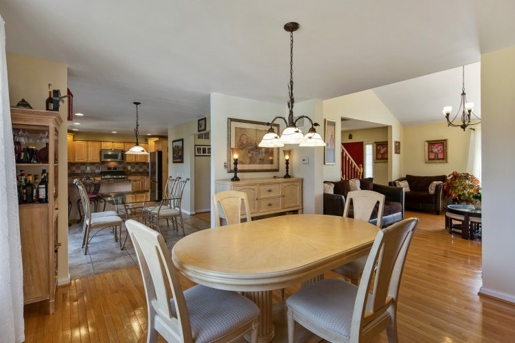 The formal dining room of 2906 Good Intent Road