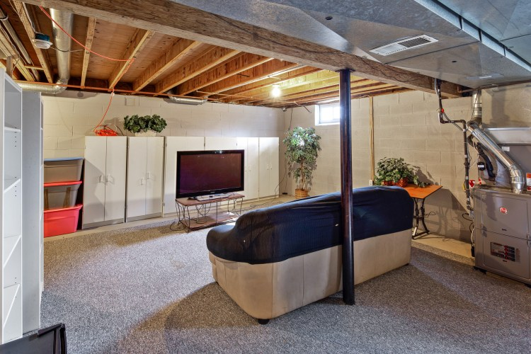 The basement at 49 Woodduck Drive