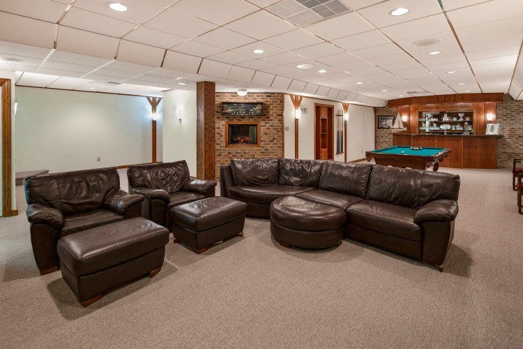 The full finished basement