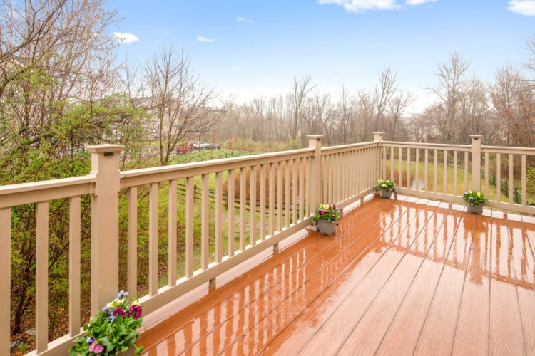 The deck at 611 Sweetgum Lane