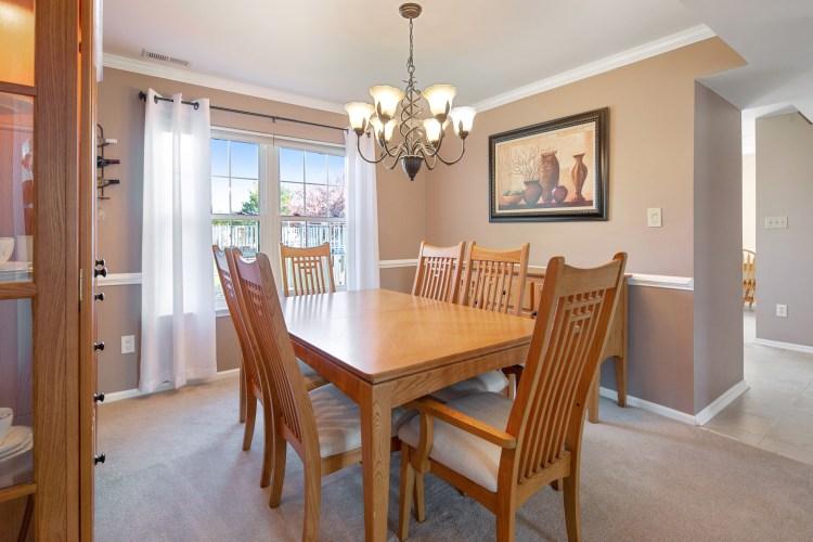 Dining room at 2 Linden