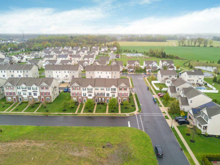 Aerial view of Richwood Crossings. 460 N Palace Drive