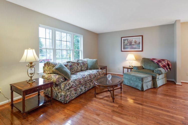 The living room at 949 Twelve Oaks Drive