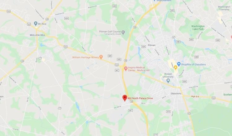 Map location of 460 N Palace Drive Glassboro NJ