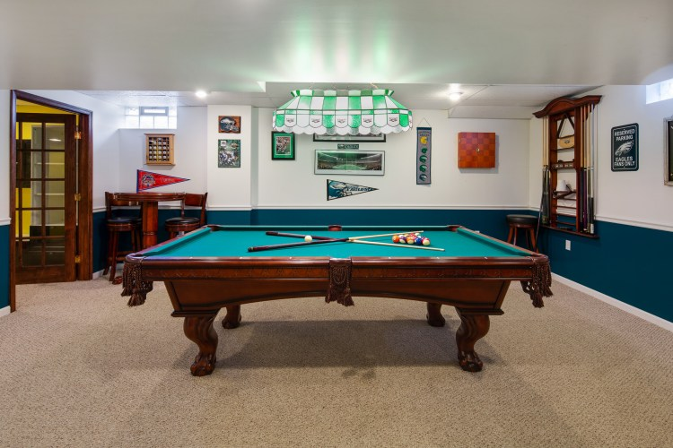 This basement is perfect for recreation!